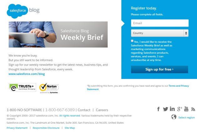 Salesforce blog lead magnet